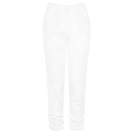 Sandwich Clothing Casual Ruffle Cropped Trouser - White