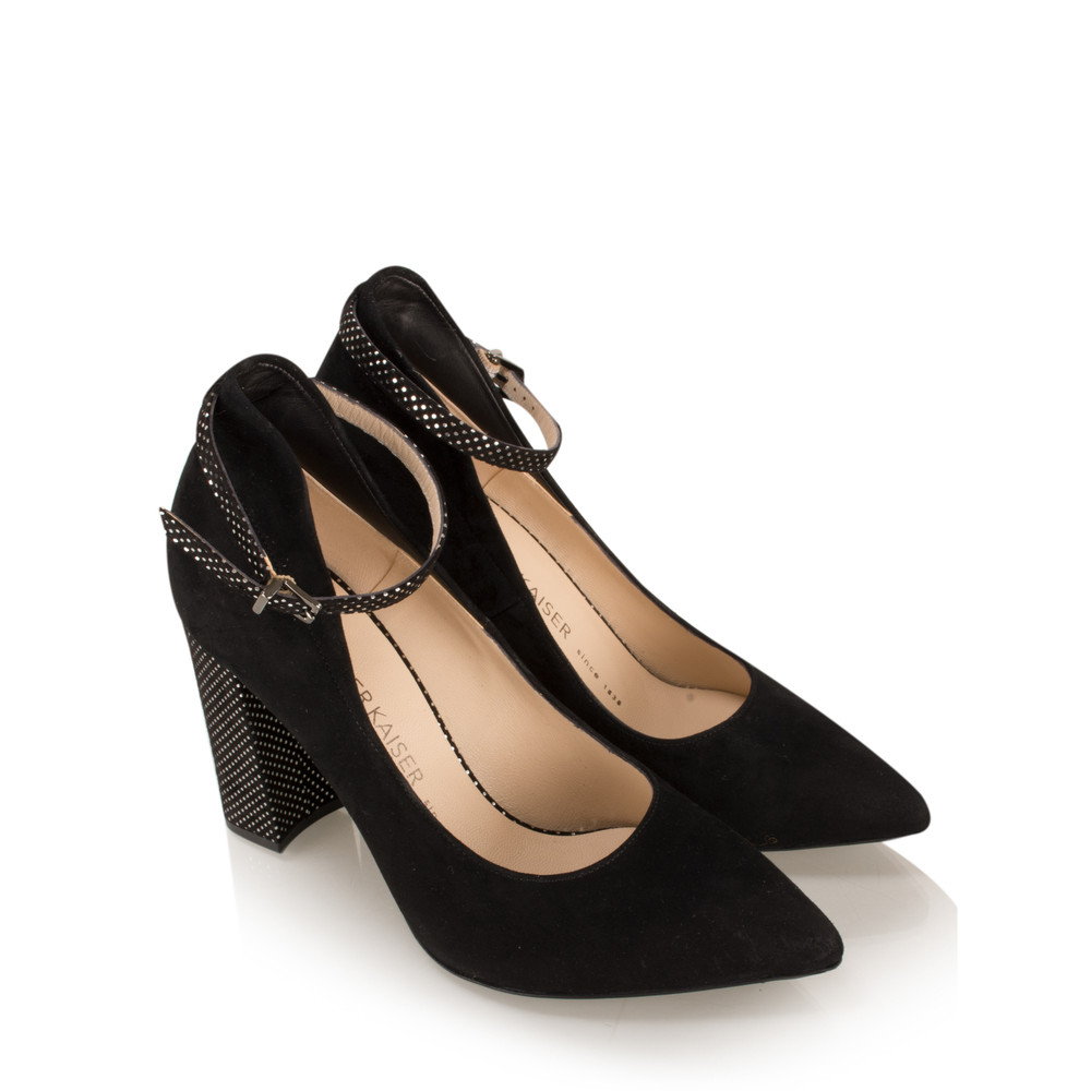 Peter Kaiser Atina Ankle Strap Shoe Black