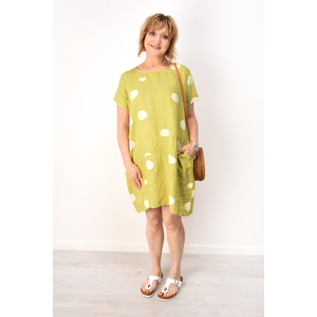 Arka Dottie Linen Dress - Green