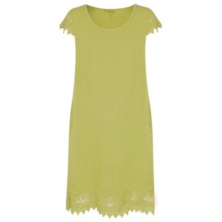 Arka Livia Crochet Trim Linen Dress - Green