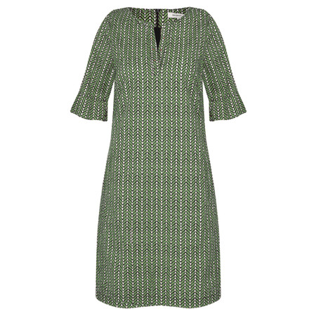 Sandwich Clothing Herringbone Woven Dress - Green