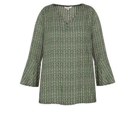 Sandwich Clothing Herringbone Print Blouse - Green