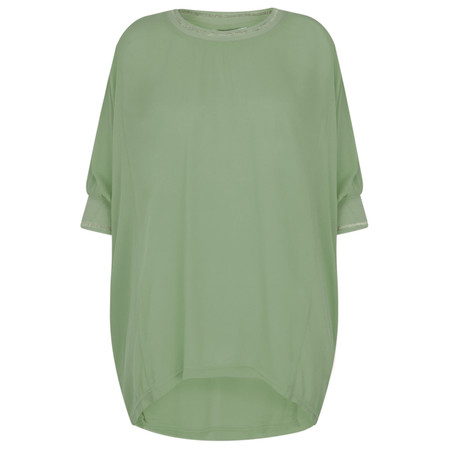 Sandwich Clothing Loose Batwing Blouse - Green