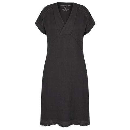 Sandwich Clothing Summer Linen Dress - Black