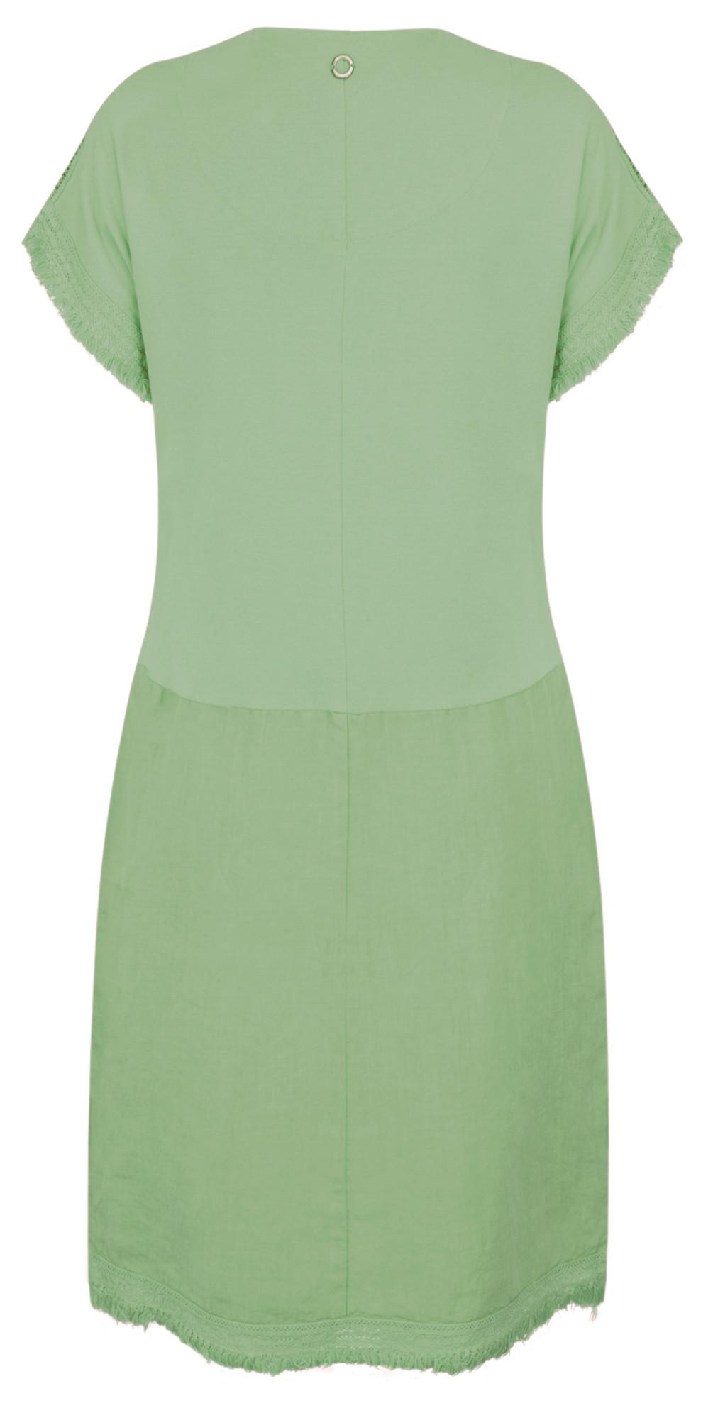 9d40e25f1fe9 Sandwich Clothing Summer Linen Dress in Hedge Green
