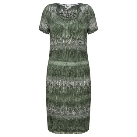 Sandwich Clothing Fine Net Aztec Print Dress - Green
