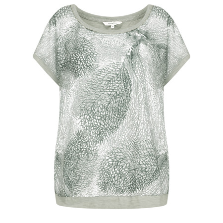 Sandwich Clothing Abstract Leaf Print Blouse - Beige