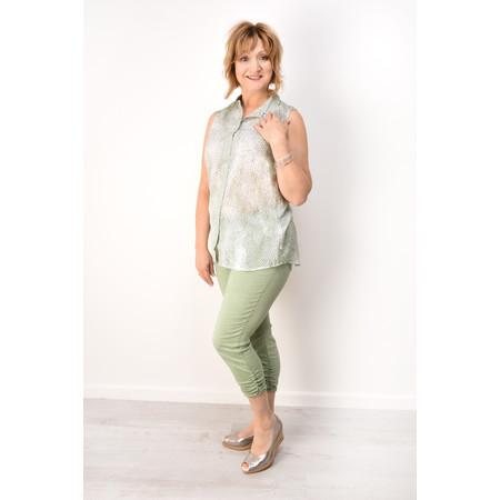 Sandwich Clothing Casual Ruffle Cropped Trouser - Green