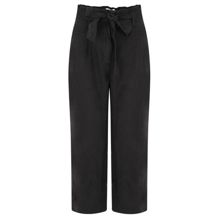 Sandwich Clothing Casual Cropped Linen Trouser - Black