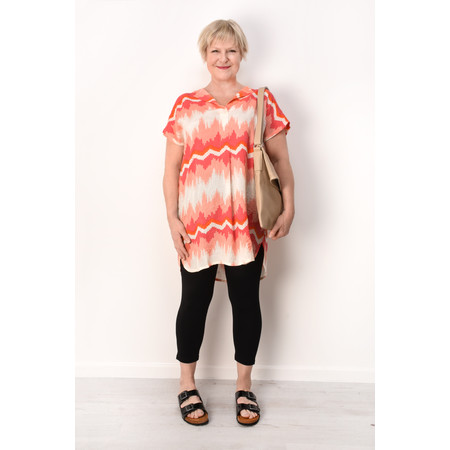 Masai Clothing Zig-Zag Hedda Tunic - Pink