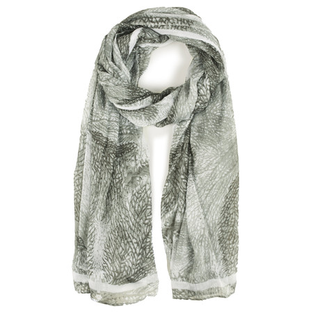 Sandwich Clothing Abstract Print Woven Scarf - Grey
