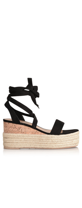 Livshu Ava Wedge Sandal Black