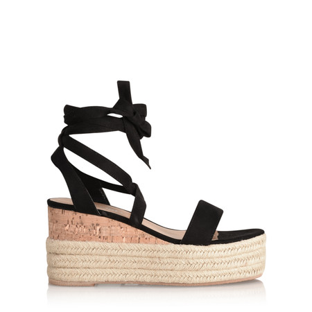 Livshu Ava Wedge Sandal - Black