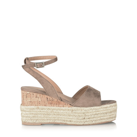 Livshu Grace Wedge Sandal - Brown