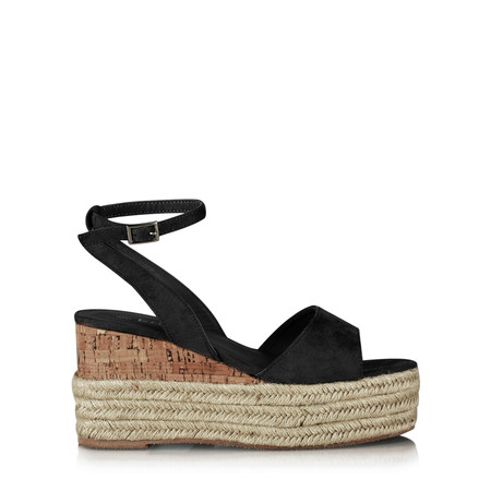 Livshu Grace Wedge Sandal - Black