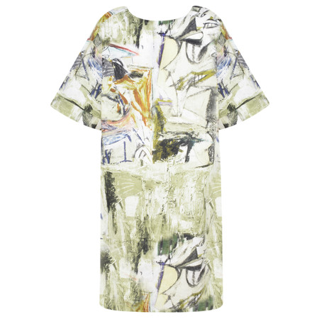 Fenella  Elisa Artist Print Easy Fit Dress - Green