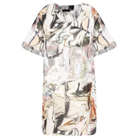 Fenella  Elisa Artist Print Easy Fit Dress - Metallic