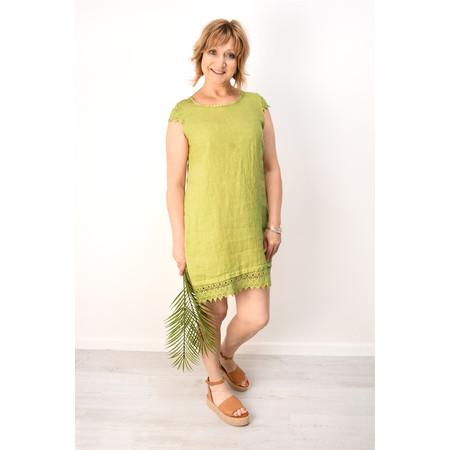 Arka Livia Crochet Trim Linen Dress - Blue
