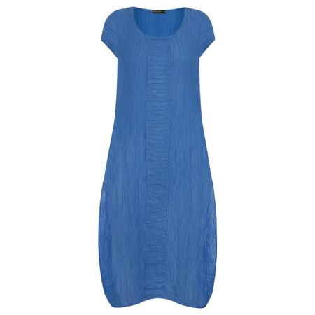 Grizas Victoria Solid Crinkle Silk Dress - Blue
