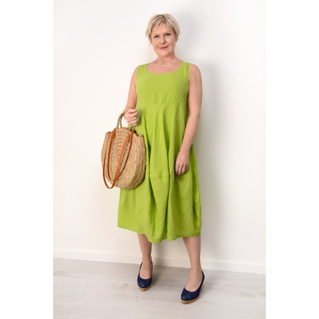 Grizas Lara Linen Dress - Green