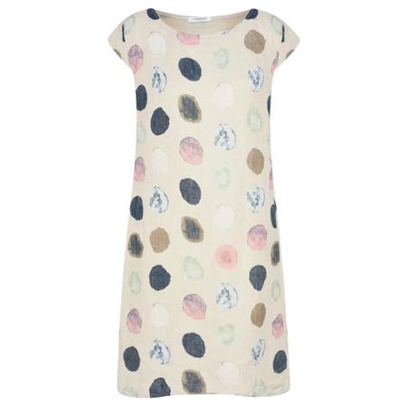 TOC  Dinny Spot Linen Dress - Beige