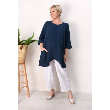 Grizas Petra Linen Tunic - Blue