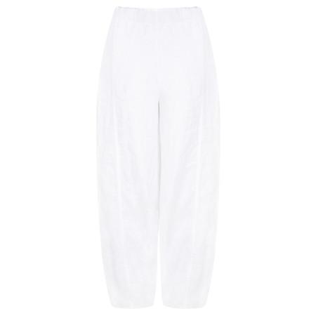 Grizas Sara Linen Easyfit Trouser - White
