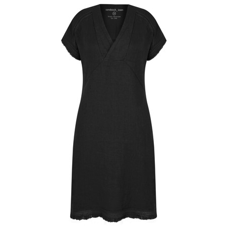 Sandwich Clothing Summer Linen Dress - Black
