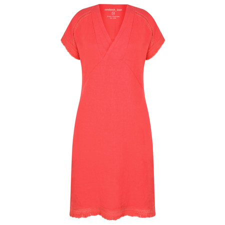Sandwich Clothing Summer Linen Dress - Pink