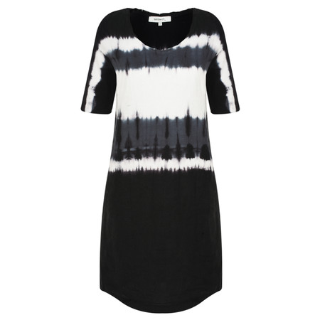 Sandwich Clothing Tie-dye Linen Woven Dress - Black