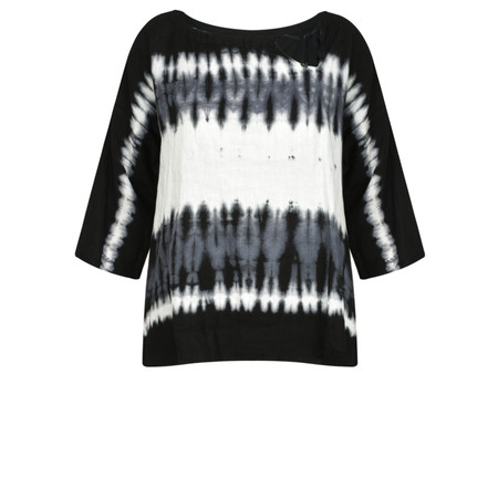 Sandwich Clothing Tie Dye Linen Blend Top - Black