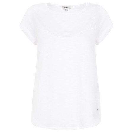 Sandwich Clothing Short Sleeve Embroidery Top - White