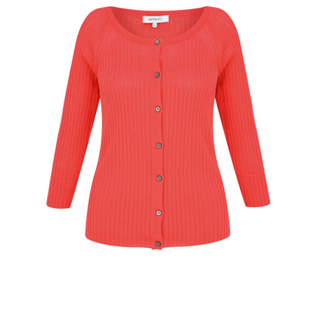 Sandwich Clothing Thin Knit Ribbed Cardigan - Pink