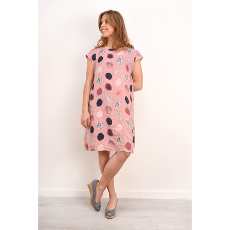 TOC  Dinny Spot Linen Dress - Pink