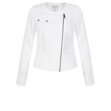 Sandwich Clothing Linen Biker Jacket - White