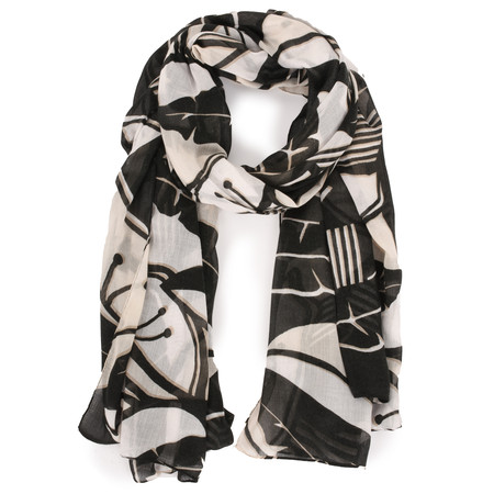 Sandwich Clothing Bold Floral Woven Scarf - Beige