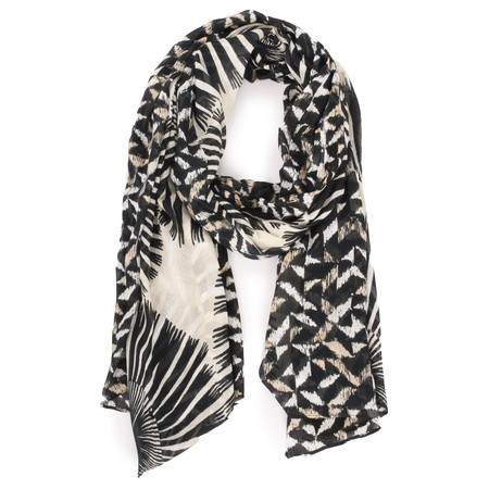 Sandwich Clothing Abstract Animal Woven Scarf - Black