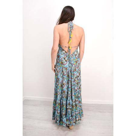 Lara Ethnics Petal Frill Dress - Turquoise