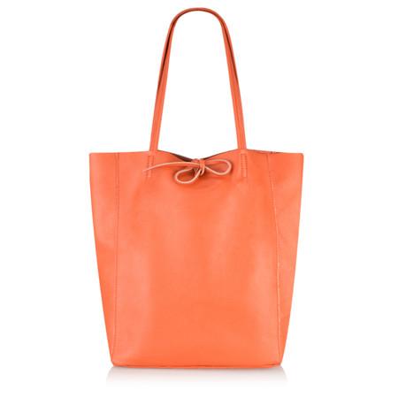 Gemini by PWA  Ribera Leather Tote Bag  - Orange