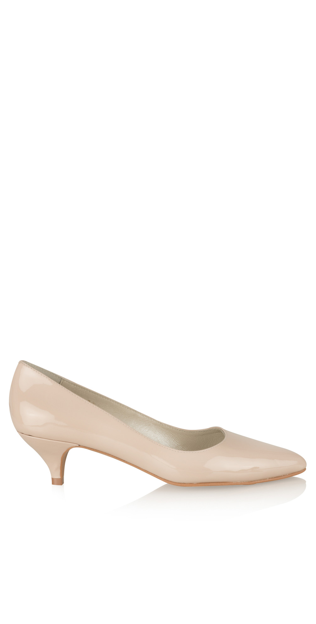 df3763f788c Nude Daila Patent Kitten Heel