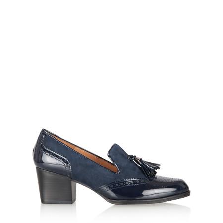 HB Shoes Amanda Brogue Tassel Loafer - Blue