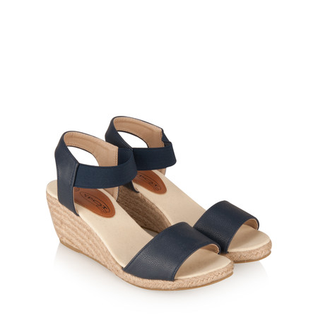KimShu Susanne Wedge Sandal - Blue