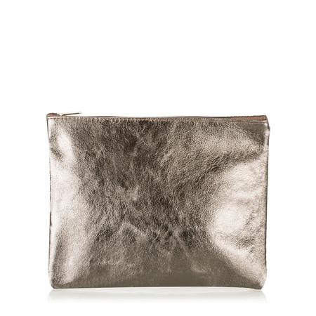 Gemini Label Cosmo Metallic Leather Bag - Metallic