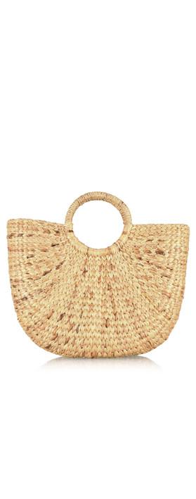 Betsy & Floss Ischia Basket Bag Tan