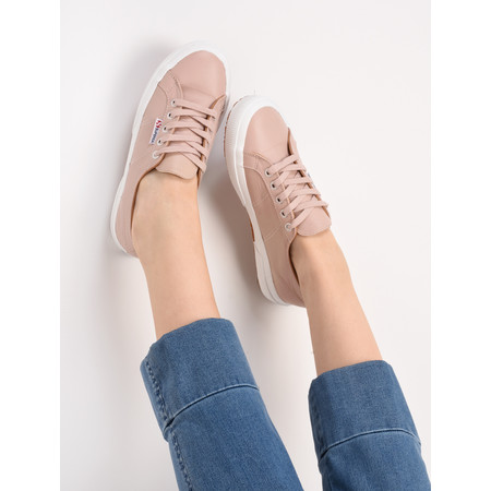 Superga Grace 2750 Leather Trainer Shoe - Pink