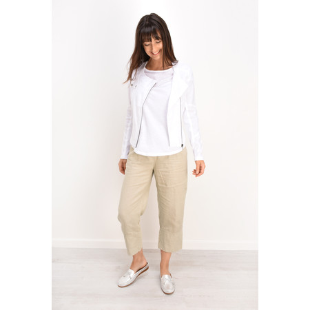 Sandwich Clothing Casual Cropped Linen Trouser - Beige