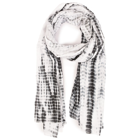 Sandwich Clothing Tie Dye Woven Scarf - Black