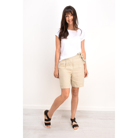 Sandwich Clothing Casual Linen Shorts - Beige