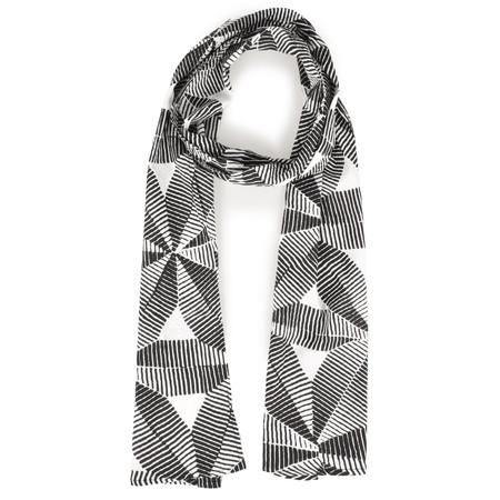 Masai Clothing Along Geometric Scarf - Black