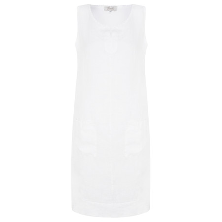 Fenella  Laural Easy Fit Sleeveless Dress - White